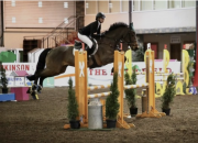 Celebrating Show Jumping Success Abroad